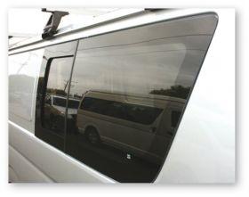 Window- clamped in sliding / flush window