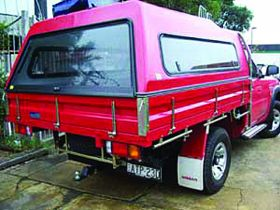 Fiberglass canopy to fit on existing steel or alloy ute trays