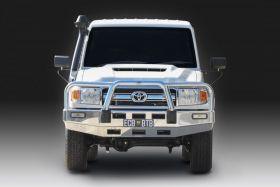 Style 2 Big Tube ™ Bullbar to suit Toyota 70 - 75 - 78 - 79 Series Landcruiser (MY17-ON) Single Cab, Polished finish