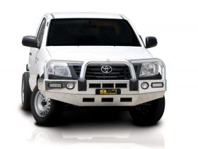 Big Tube Bullbar with Bumper Lights - Toyota Hilux - Polished finish