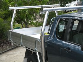Alloy tray with 76mm Polished Alloy 'Trade Rack' Headboard