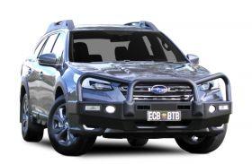 Big Tube Bullbar with Bumper Lights - Subaru Outback - Textura Black Finish
