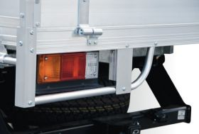 Alloy tray with Optional Tail Light Protectors (pr)