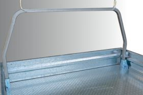 Optional rear removable rack to suit Alloy Tray with tapered headboard