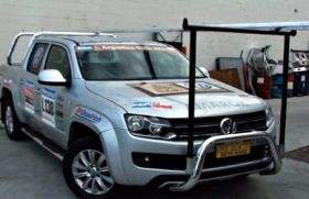 "VW AMAROK NUDGE BAR with removable ""H"" rack"